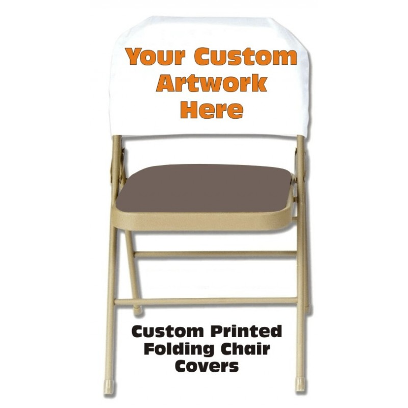 Custom Printed Folding Chair Back Cover
